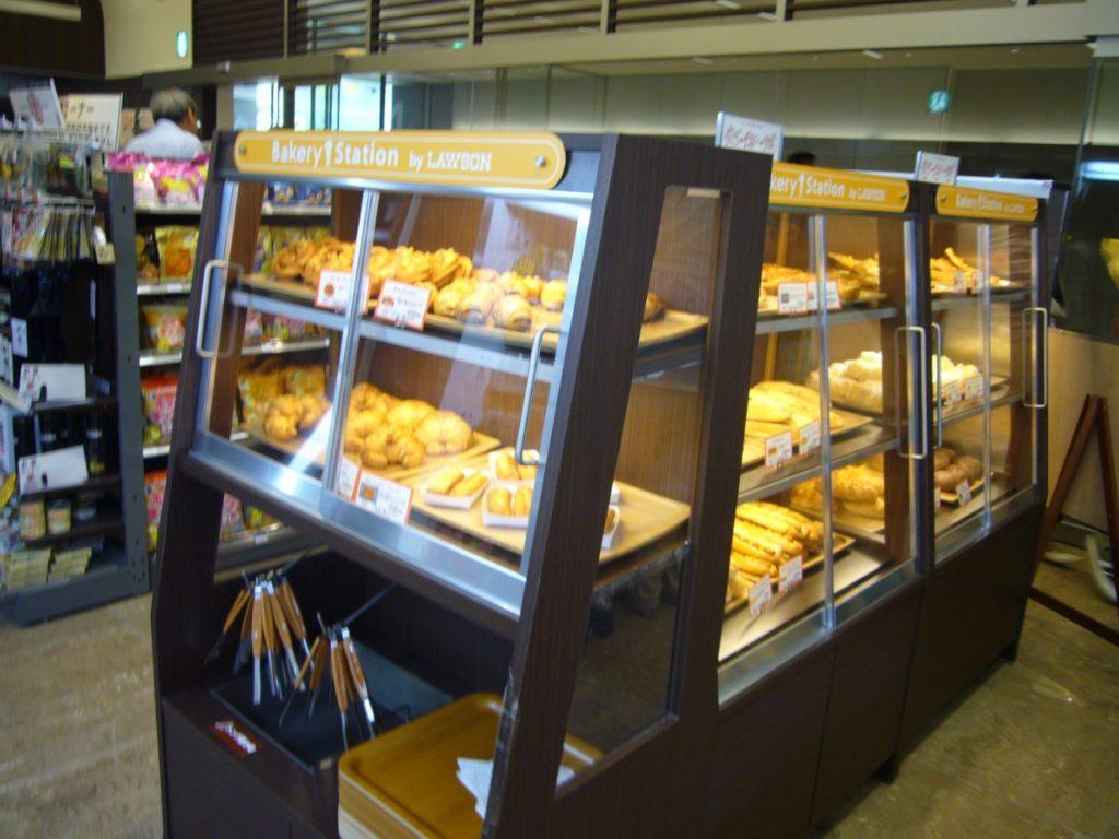2007年開業時の焼き立てパン(Bakery Station by LAWSON)