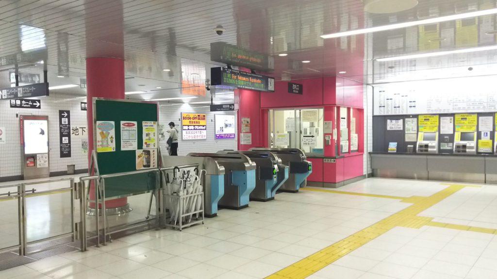 名古屋市営地下鉄徳重駅改札口