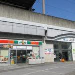サンクス上小田井店と上小田井駅(南口)