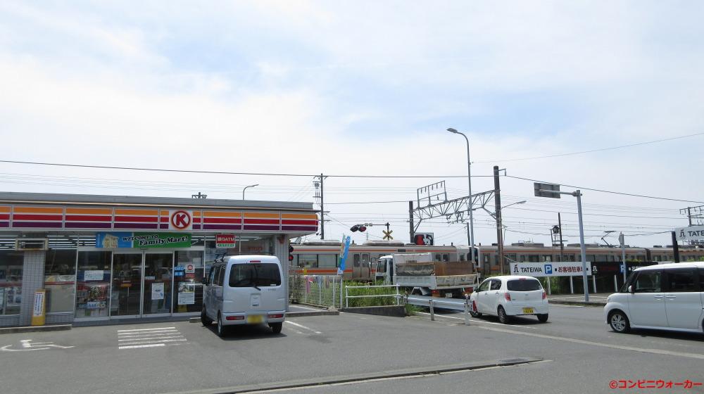 サークルK豊橋中原町店とJR東海道本線