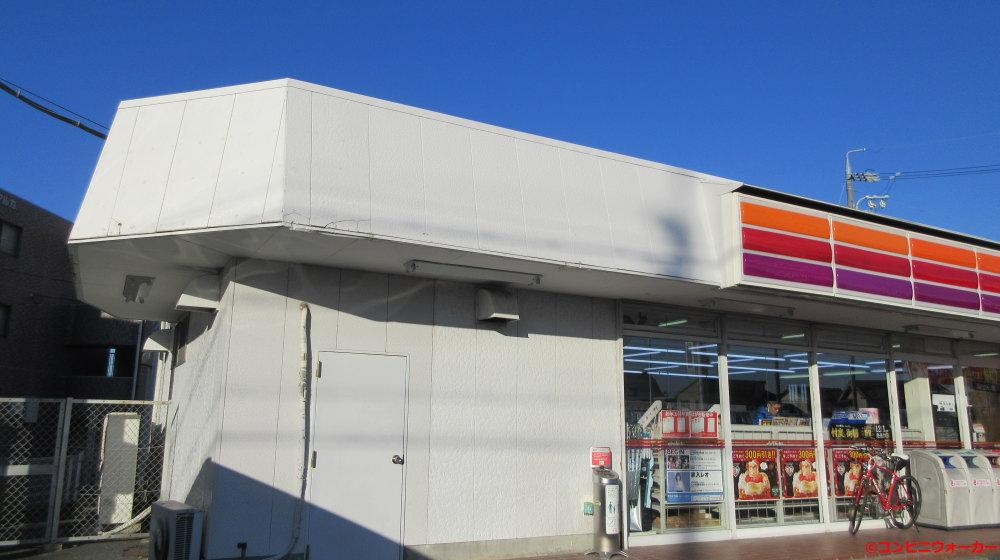 サークルK中条店 1980年代建築(三角屋根とタイル)