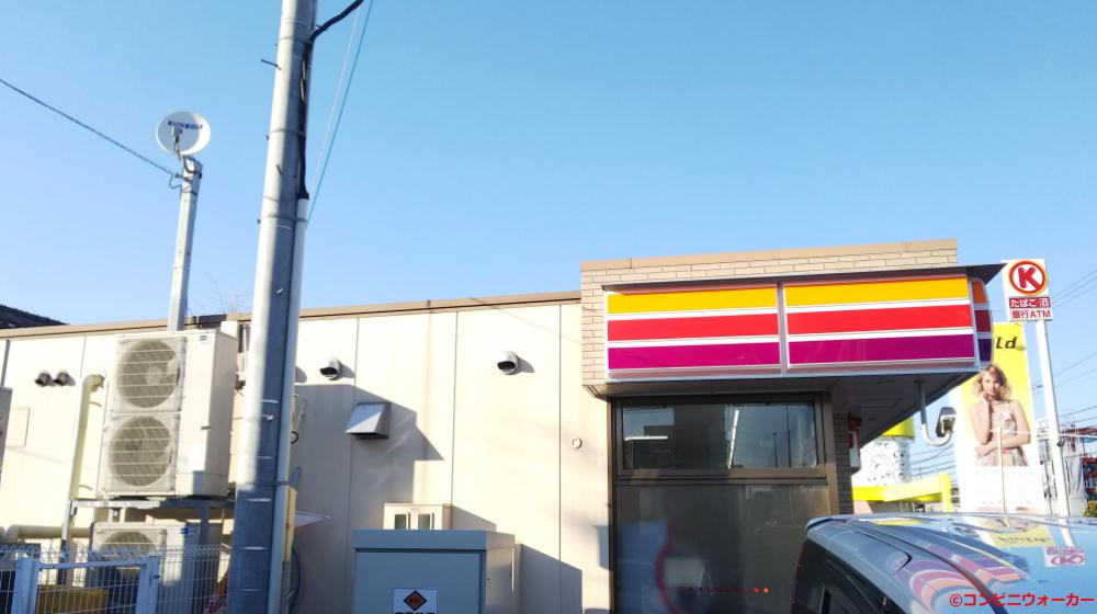 サークルK中島新町三丁目店 店舗横(セブンイレブンタイプの店舗横外壁パネル)