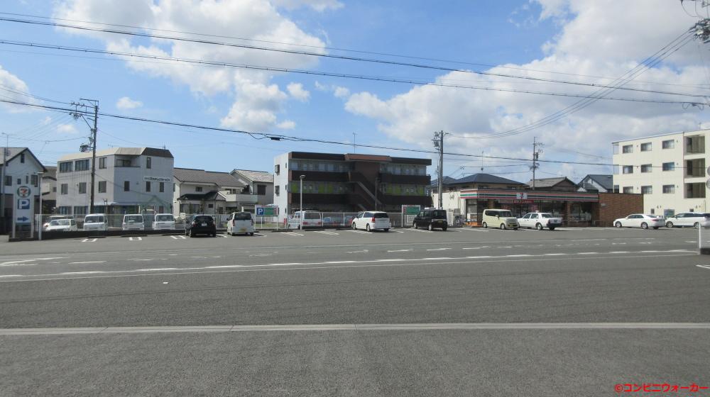 サークルK袋井栄町店 店舗向かい側にセブンイレブン袋井睦町店